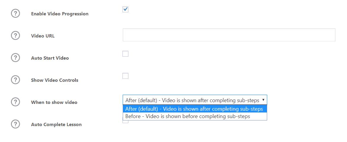 Video Progression