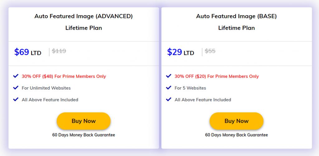 Auto Post Thumbnail Pricing