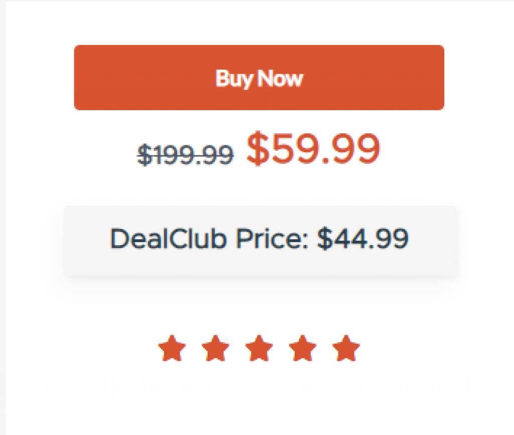 Notic pricing.