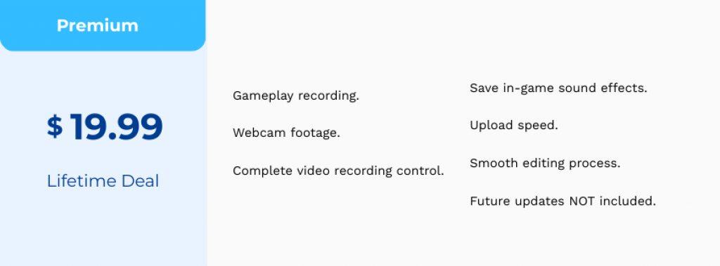 Game Recorder Pricing