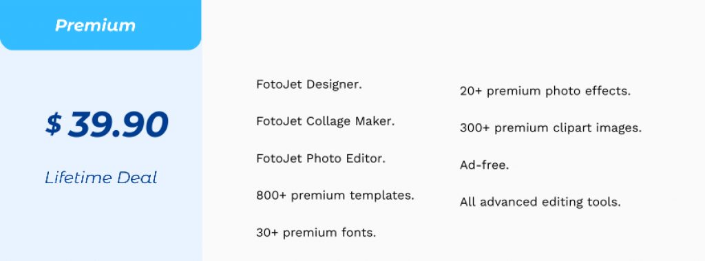 Fotojet Pricing