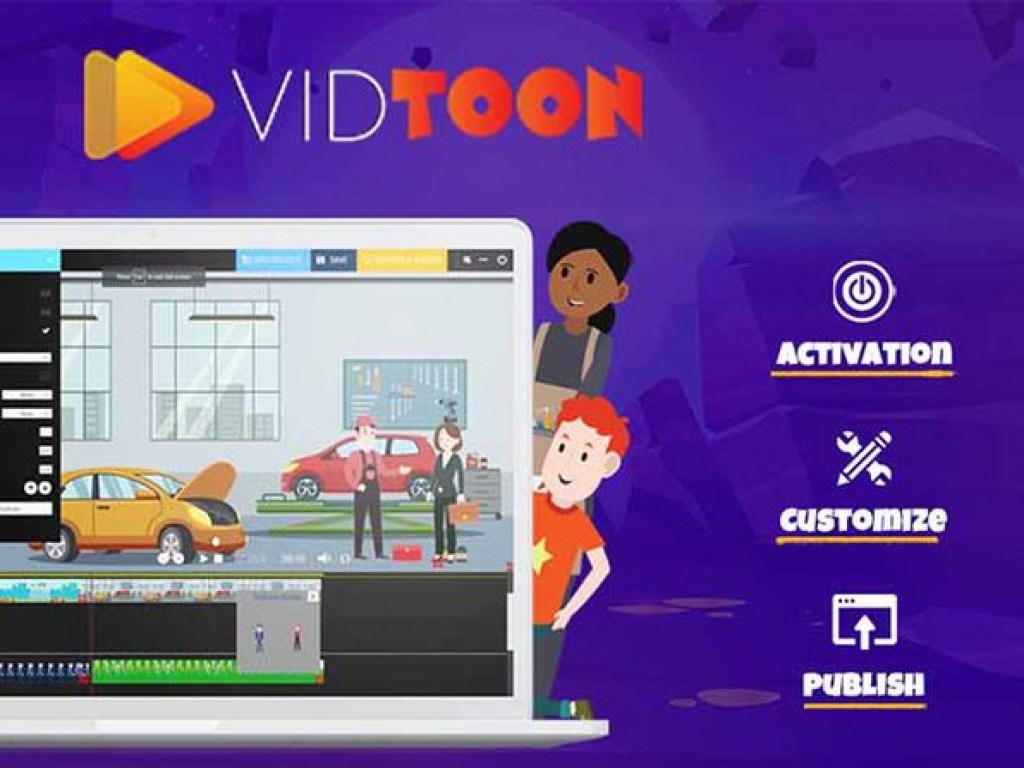 Vidtoon dashboard
