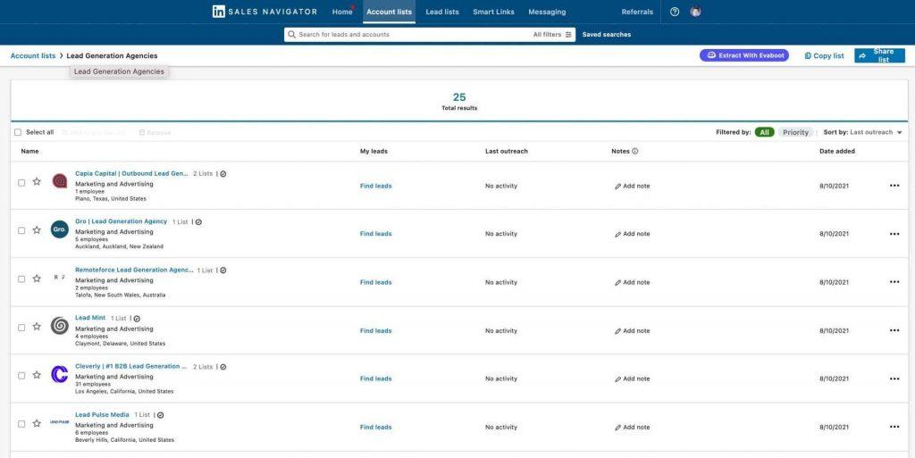 Export Account List
