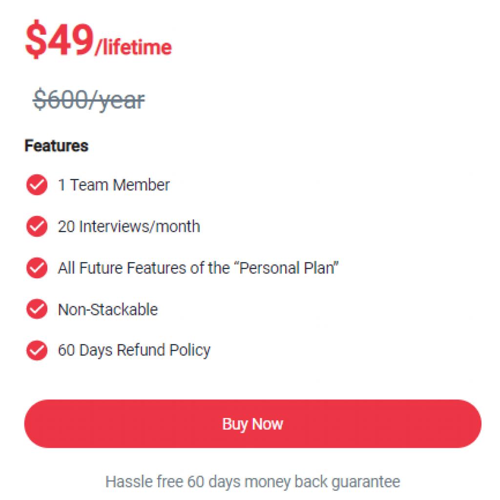 pricing intervue